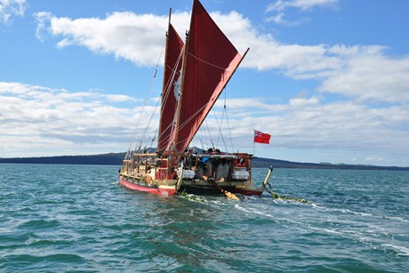 The waka left Auckland on August 17  (AAP)