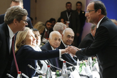 Hillary Clinton et François Hollande