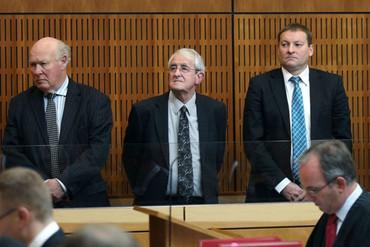 Edward Sullivan (L), Robert White and Lachie McLeod (Timaru Herald)