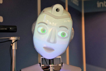 Socibot can recognise facial expressions, as well as deliver its own