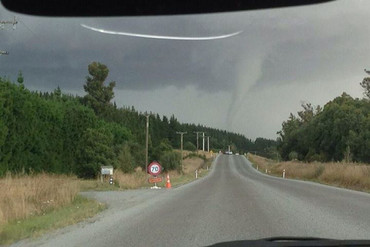 A tornado is seen near Amberley (Facebook)