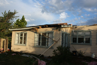 The tornado ripped the roof off this home (Photo: Supplied)