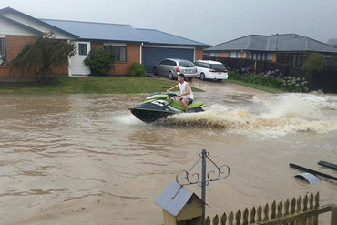 Flooding in Christchurch (Photo: Abe Zarour)