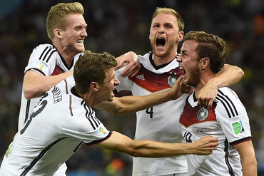 Germany players celebrate winning the 2014 Football World Cup...Check out the photos!