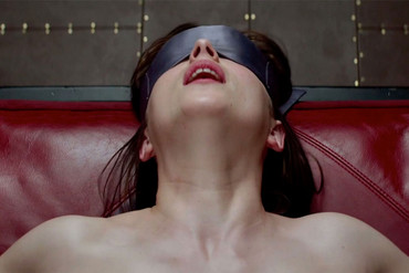 A racy scene in Fifty Shades of Grey