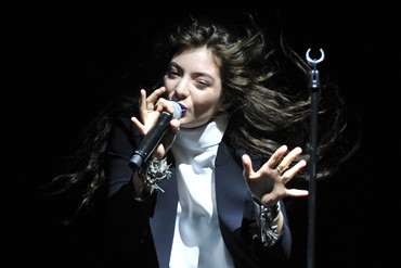 Lorde performing in Sydney last month (AAP)