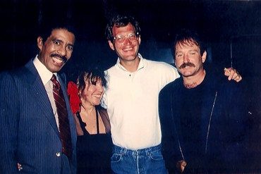 Robin Williams together with David Letterman, Richard Pryor and Mitzi Shore