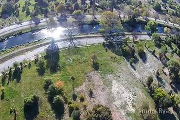 Aerial shot Avonside, Christchurch (File)